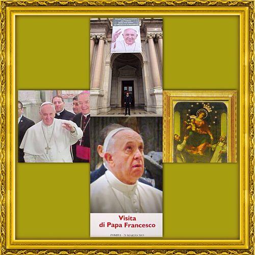 A Pompeii  con PAPA FRANCESCO 💒 Jose Mario Bergoglio sei il mio grande eroe! 🙌 PPapáfFrancescosanto subito! 😇 AAmen🙏