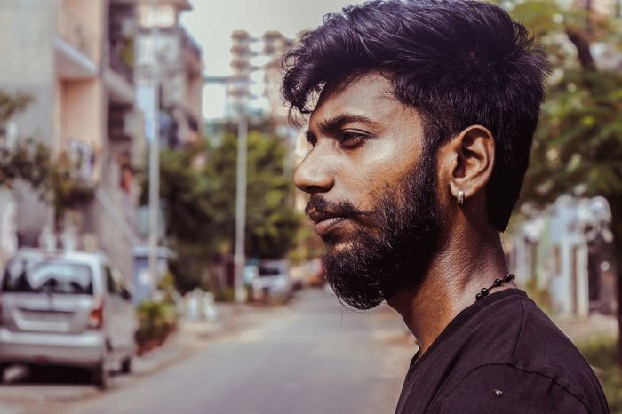 The beard Guy. 50mm F1.8 Canon Premium Collection Canonphotography For Sale Photography Portrait Popular Photos Friend Bro EyeEm Selects City Portrait Headshot Men Beautiful People Standing Out From The Crowd Individuality Beauty Blank Expression Handsome Fashion Model Artist's Model Thinking Fine Art Portrait Pretty Asian  Earring  Hairstyle Posing