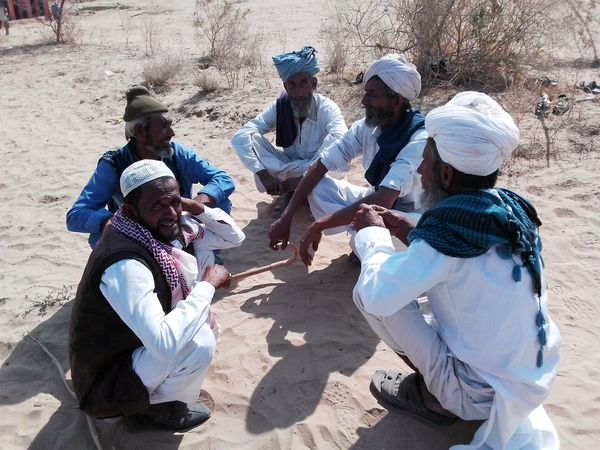 Marwar life and Culture Colourful Rajasthan Desrt Scenes Sand Sunlight High Angle View Day Outdoors Sitting Adult Togetherness Real People