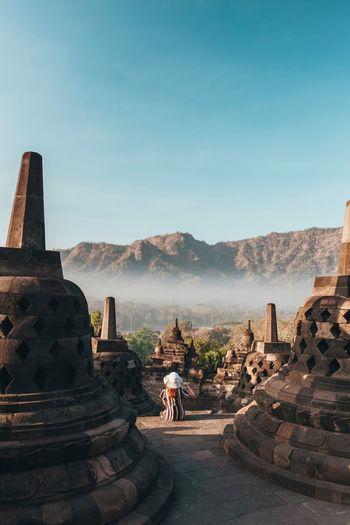 Borobudur Temple. Borobudur Yogyakarta Landscape INDONESIA Sunrise Built Structure Architecture Sky History The Past Ancient Religion Travel Destinations My Best Travel Photo My Best Travel Photo