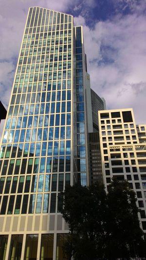 Architecture City Life Building Exterior Modern Skyscraper Cloud - Sky Outdoors Frankfurt Am Main Frankfurt Minimal Modern Architecture Modern Art Façade Urban Skyline Sky The Architect - 2017 EyeEm Awards The Architect - 2017 EyeEm Awards