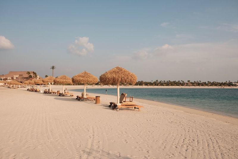 Whats up beaches! Beach In Doha Banana Island Qatar Doha Beach Land Sky Water Sea Sand Beauty In Nature Tranquility Nature Cloud - Sky Horizon Tranquil Scene Scenics - Nature Horizon Over Water Day Outdoors No People Sunlight Non-urban Scene