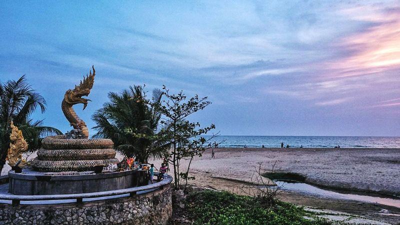 Naga Evening Sky Southern Thailand Thailand Phuket ASIA Southeast Asia Low Season Palm Trees Cloud Beach Andaman Sea