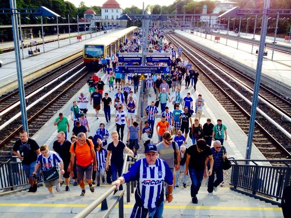 Summer In The City Summer2015 Public Transportation Hertha BSC Fans Before The Game My Berlin  Hahohe
