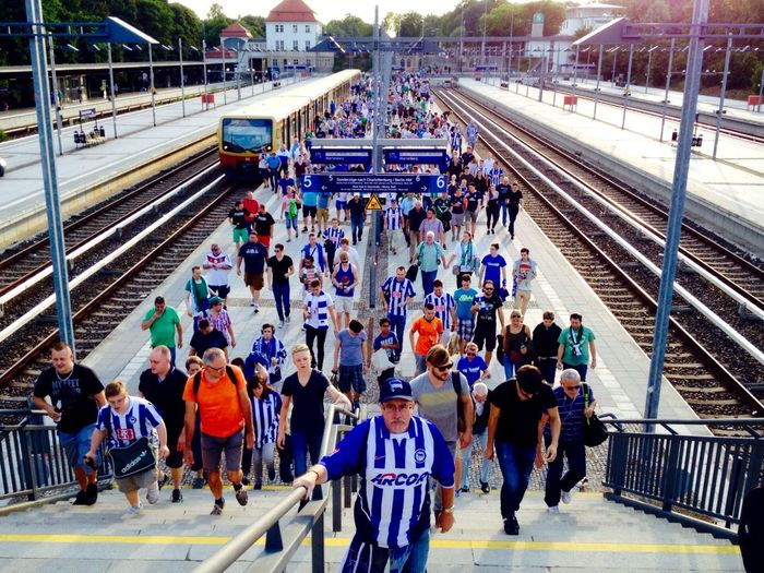 Summer2015 Public Transportation Hertha BSC Fans Before The Game My Berlin  Hahohe