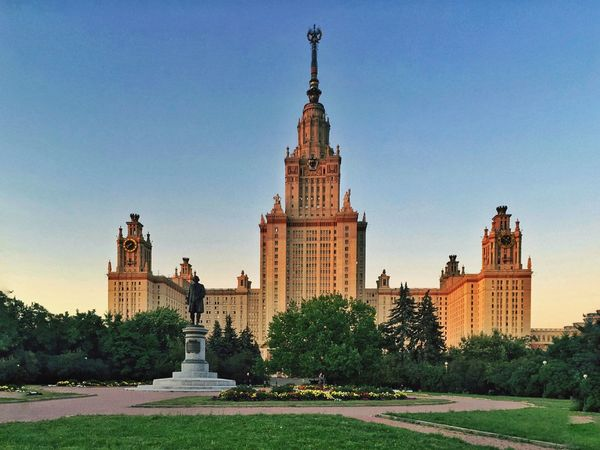 Main building of Moscow State University Architecture University Moscow The Architect - 2016 EyeEm Awards