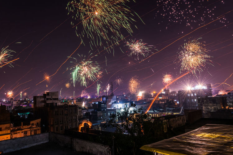 Annual Event Celebration City Cityscape Exploding Firework - Man Made Object Firework Display Night No People Outdoors Sky
