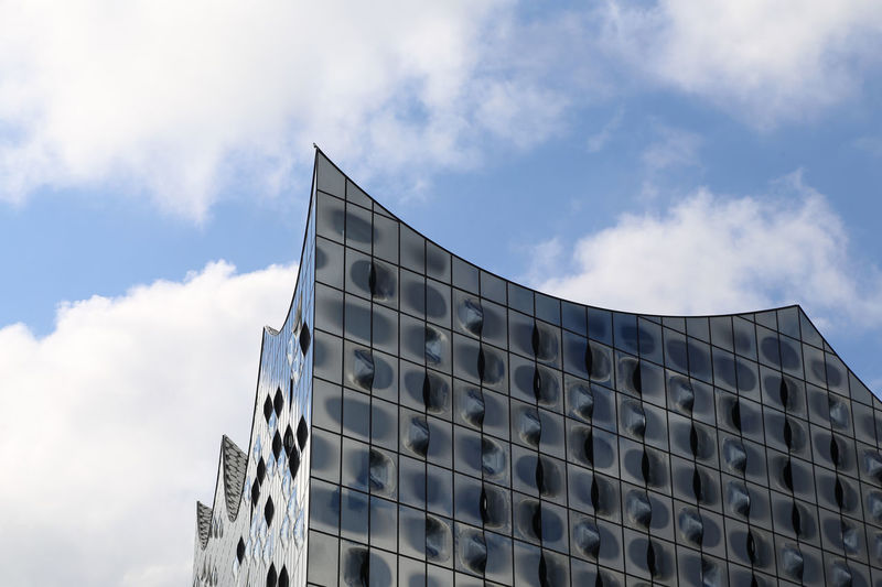 """1707, """"Editorial use only"""", Hamburg Elbphilharmonie, Architecture Architecture Building Exterior Built Structure City Cloud - Sky Day Elbe Elbphilharmonie Germany Hamburg Hamburg Harbour Low Angle View Modern No People Outdoors Point Of Interest Point Of View Sky"""