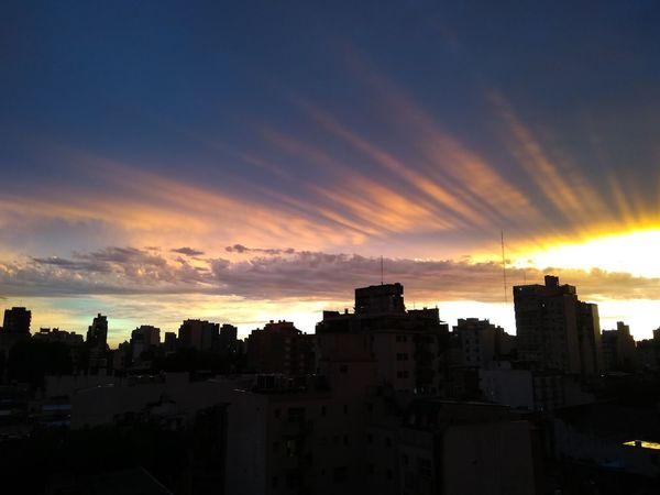 Atardece Sunset City Dramatic Sky Sky Cloud - Sky