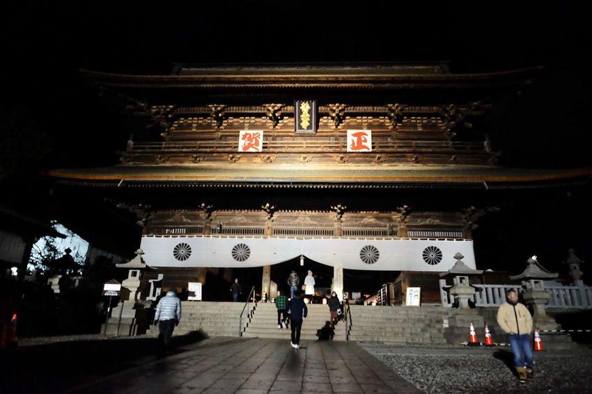 Flag Lifestyles Architecture Leisure Activity Japan Temple NewYearEve2017 Night Outdoors People