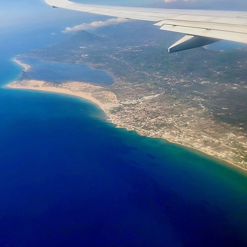 Island Water Beauty In Nature Scenics - Nature Nature Sea Blue Aerial View Day Land No People Tranquility Beach High Angle View Flying Airplane