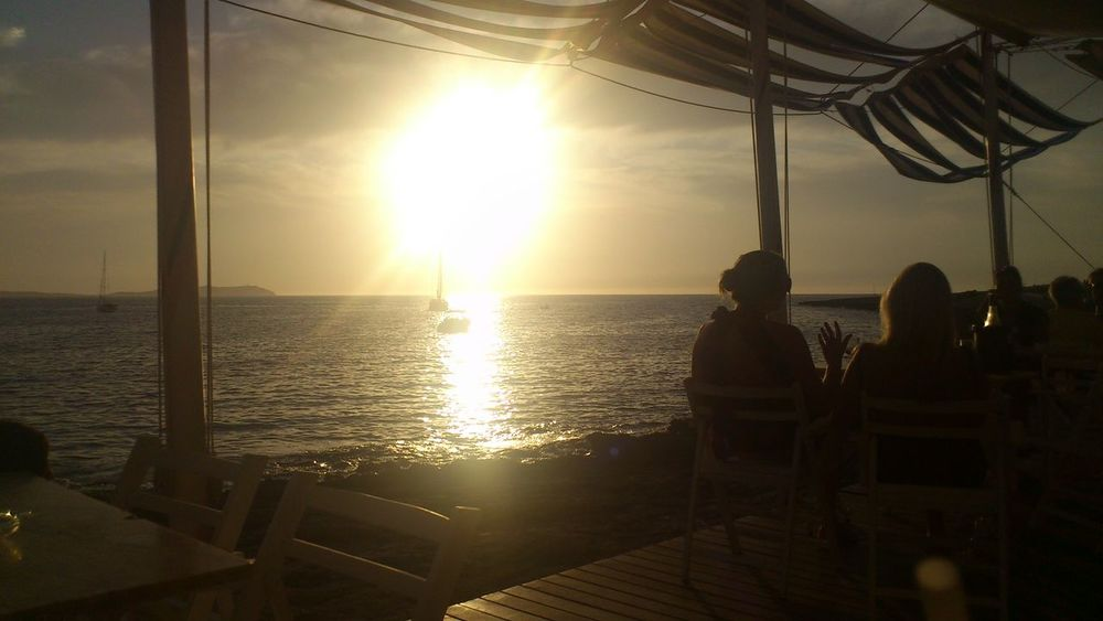 Horizon Over Water Ibiza Idyllic Leisure Activity Relaxation Sky Sunbeam Sunlight Sunset Tourism Vacations
