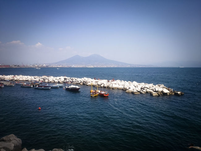Napoli Vesuvio Beauty In Nature Blue Clear Sky Day Mountain Nature No People Outdoors Scenics Sea Sky Tranquil Scene Tranquility Volcano Water Waterfront