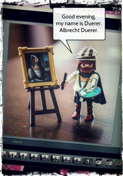 the venerable albrecht duerer. :-) Fun Painting Playmobil Albrecht Duerer