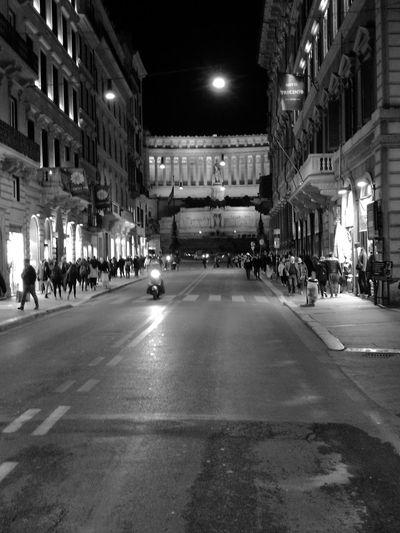 Night City Illuminated Street