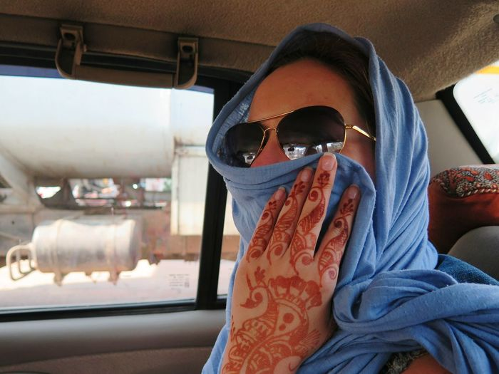 EyeEm Selects One Person Adults Only Youn Woman Only Adult Car Interior Portrait Car Eye Mask Sunglasses Looking At Camera Headshot Transportation People Young Adult Day Indoors  Lifestyles A Young Woman