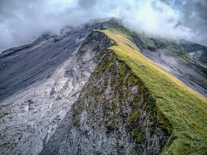 Capture The Moment Cloud Drone  Edge Of The World Adventure Beauty In Nature Cloud - Sky Dji Dronephotography Droneshot Fog High Angle View Landscape Mavic Mountain Nature No People Outdoors Scenics Swiss Alps