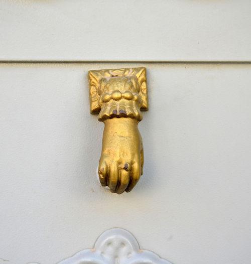 door Close-up Day Door Door Handle Door Knocker Gold Colored No People
