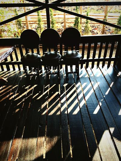 Darkness And Light Shadow Chairs Terrace Rhythm Lines Positive Space Negative Space
