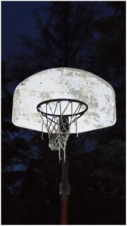 Basketball Basketball At Night Backboard Night Shots  Sports