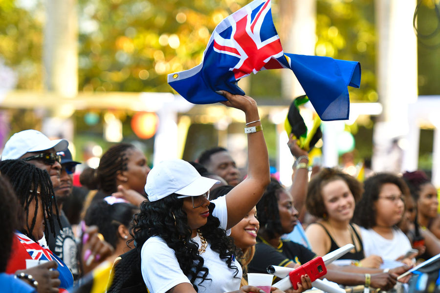 Celebration Crowd Day Flag Happiness Outdoors Patriotism Pride Real People Reggae Festival Turks And Caicos