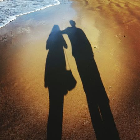 Its all an illusion Reflection Reflections Silhouette Silhouettes Lovers Focus On Shadow Shore Long Shadow - Shadow Romance Date Night - Romance Dating Couple Falling In Love Romantic Activity