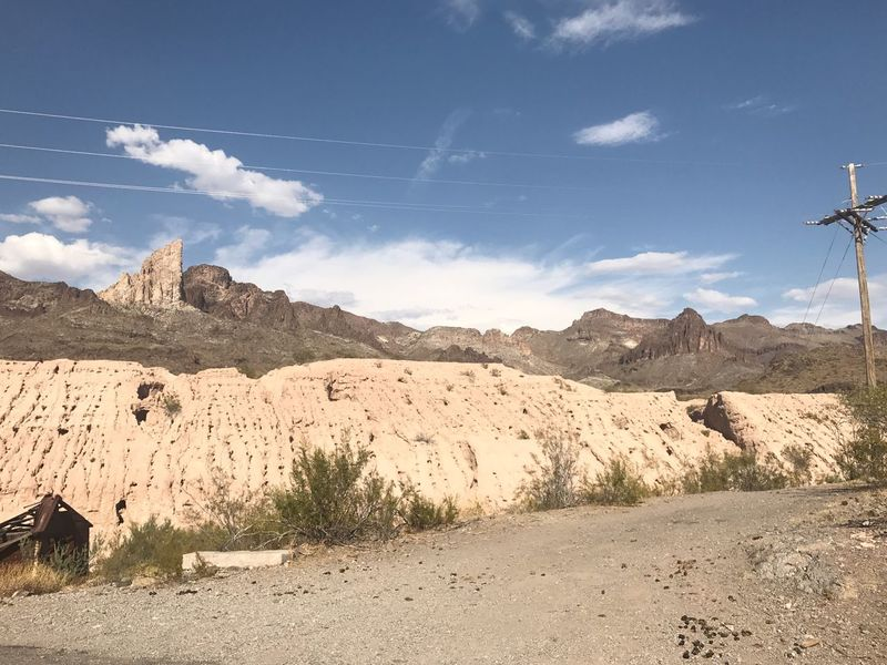 Nature Day Landscape Outdoors Sky Mountain Tranquility Tranquil Scene Scenics No People Arid Climate Cloud - Sky Desert Beauty In Nature Mammal Mine Western Town Mining History Of America Abandoned Buildings