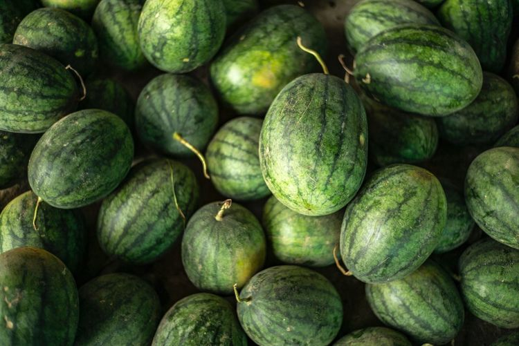 watermelon Watermelon Food And Drink Food Healthy Eating Wellbeing Freshness Full Frame Abundance Backgrounds Green Color No People Still Life Market Raw Food Vegetable Close-up For Sale Fruit