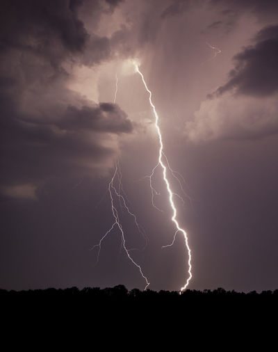 Beauty In Nature Cloud - Sky Danger Dramatic Sky Forked Lightning Illuminated Landscape Lightning Nature Night No People Outdoors Power In Nature Scenics Silhouette Sky Storm Storm Cloud Thunderstorm Weather