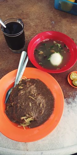 Rojak + sup daging. Kotakinabalu Localfood Kkfood Cosyougottoeat Close-up