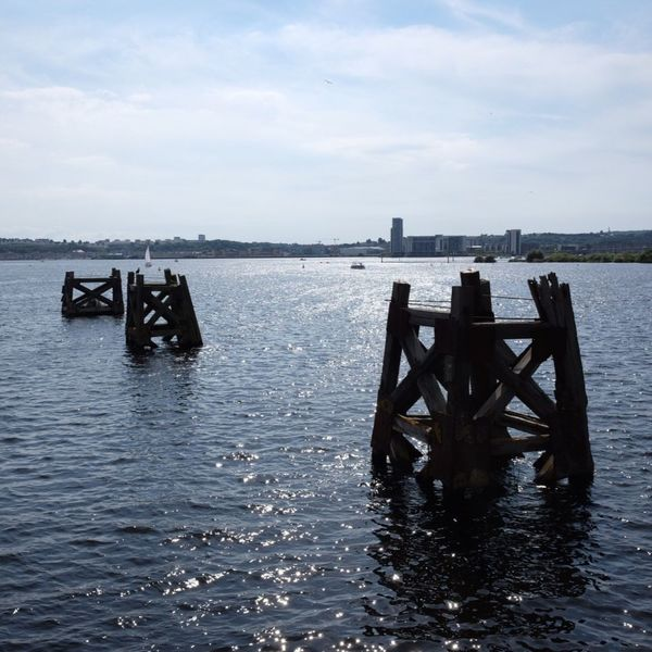 Wales Cardiff Bay Cardiff Water Sea Sky No People Tranquil Scene Tranquility Scenics Cloud - Sky Nature Beauty In Nature Day Outdoors