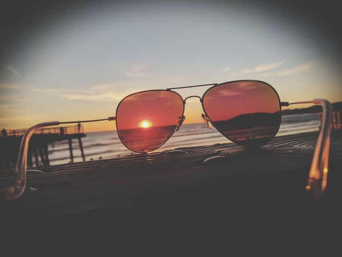 Sommergefühle Sunset Beach Sunglasses Summer Sky Horizon Over Water Beauty In Nature Nothing like a California sunset