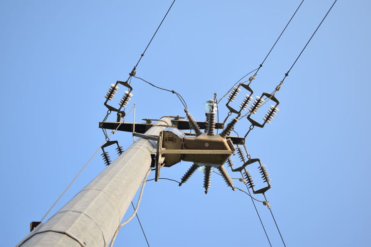 Electric Electric Pole Electricity  Electricity Pylon Industry Power Line  Power Lines Power Lines Against Sky Technology