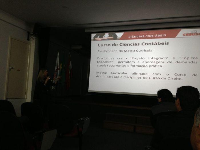 Lançamento Do Curso De Ciências Contábeis Do Cesusc