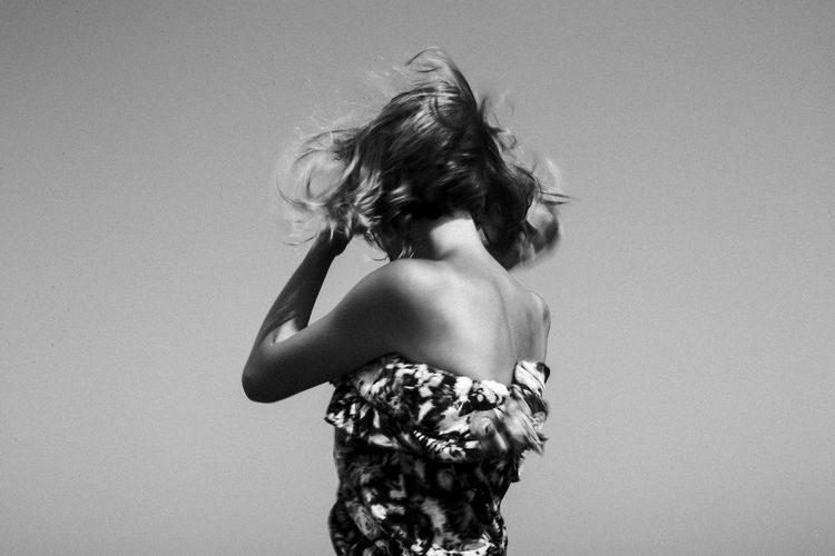 Listening to the wind Beauty Black & White Black And White Blackandwhite Body & Fitness Body Curves  Girl Leisure Activity One Person Real People Sea Seascape Seaside Slim Summer Summertime Wind Wind In My Hair Young Women Youth Youth Culture Youth Of Today Youthful Women Around The World Fresh on Market 2017 Live For The Story