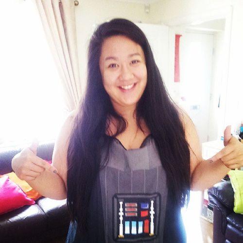 Chef Chia...in a Darth Vader apron! Mwahaha Cooking
