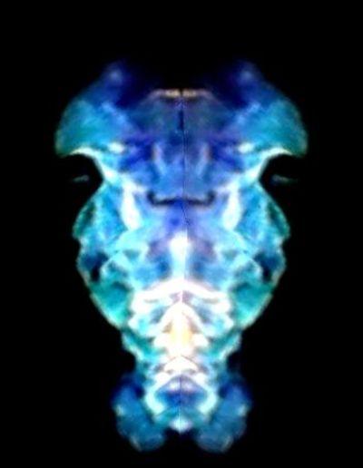 Blue Close-up Creativity Fire Art Fire Face Glowing Ideas Illuminated No People Pinkfire Sky Studio Shot Symmetry Vibrant Color