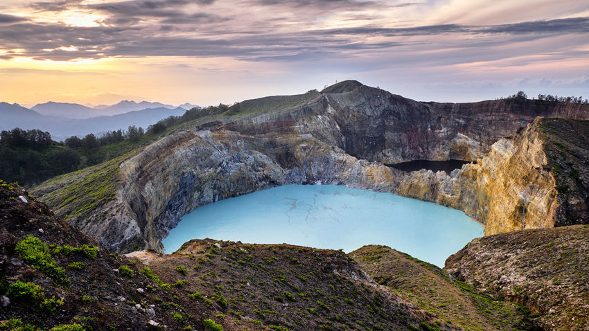ASIA Crater Lake Ende INDONESIA Vacations Views Beauty In Nature Cloud - Sky Flores Kelimutu Komodo Komodo Island Komodo National Park Labuanbajo Lake Landscape Muti Colored Nature No People Non-urban Scene Scenics - Nature Sunrise Tranquil Scene Travel Destinations Volcanic Landscape