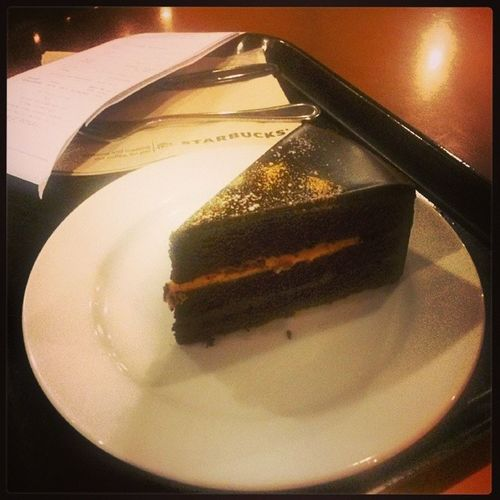 Free Birthday Slice of Cake :D Freecake Birthday Twenteensix Starbucks
