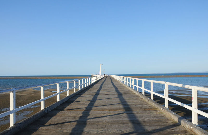 Urangan Pier Clear Sky No People Pier Sea Sky Water Wood Wood - Material