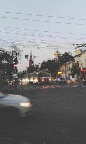Sehir Tramvay Yol Araba