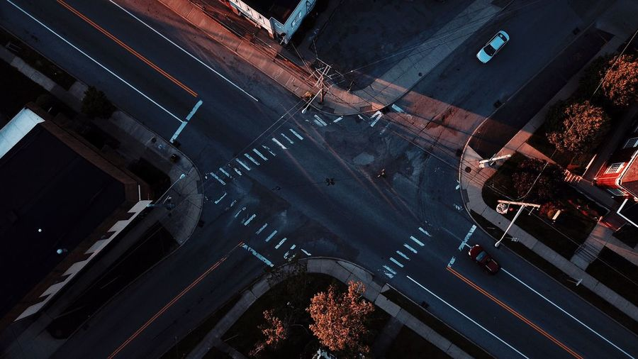 -Intersection Overheads- High Angle View Street Intersection City Aerial View Cityscape The Week On EyeEm Drone  Minimalism Birdseyeview Mavic Pro Simplicity Fresh On Market 2017