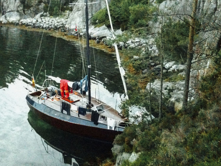 Lifestyle Nature Norway Sailing Trip Sailing Ship Anchor Bay Boat Boats Day Life On Boat Lifestyles Nature Nautical Vessel No People Outdoors Sailboat Sailboats Sailing Sailng Boat Ship Skandinavia Transportation Tree Water