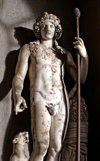 Antichita Bacco Citta Del Vaticano Indoors  Marmo Musei Vaticani Reperti Archeologici Sculptures Statue