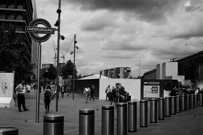 Kingscross Underground London TransportForLondon Blackandwhite