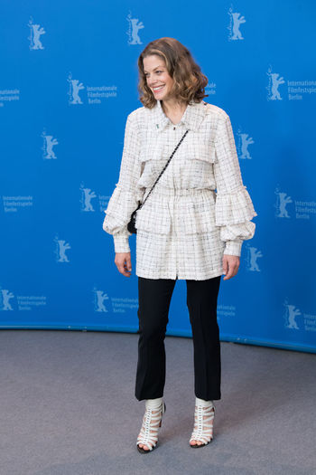 Berlin, Germany - February 19, 2018: German actress Marie Baeumer poses at the '3 Days in Quiberon' (3 Tage in Quiberon) photo call during the 68th Berlinale Film Festival at Grand Hyatt Hotel Famous German Marie Baeumer Marie Bäumer Photocall Woman Actress Beautiful Woman Berlinale Berlinale 2018 Berlinale Festival Berlinale2018 Berlinale68 Full Length German Actress One Person One Woman Only People Photo Call Popular Portrait Pose Posing Posing For The Camera Woman Portrait
