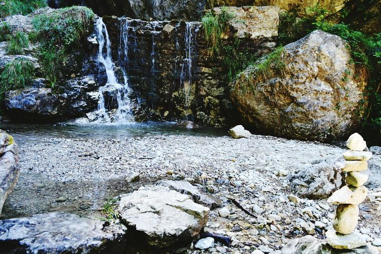 Water Rock - Object Nature Beauty In Nature Day Waterfall Scenics Tranquility