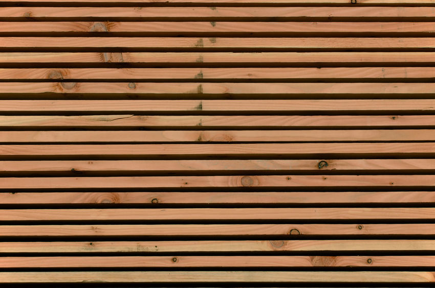 Construction Site Backgrounds Brown Full Frame Knots Pattern Striped Wood - Material Wooden Boards