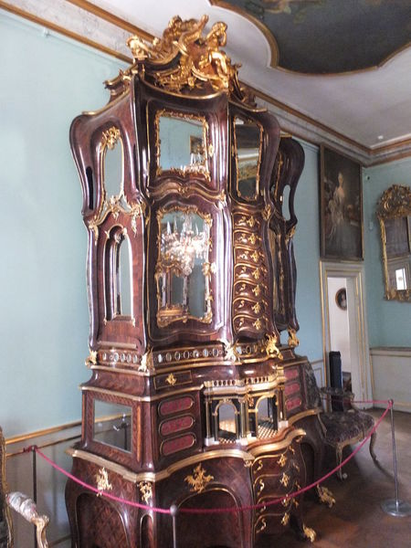 Rococo Walnut Cabinet, Rosenborg Slot (Castle) Cabinet Capital City Castle Composition Copenhagen Denmark Full Frame Furniture Gilded Illuminated Indoor Photography Low Angle View Museum No People Ornate Palace Reflection Rococò Style Rosenborg Slot Tourism Tourist Attraction  Tourist Destination Travel Destinations Walnut Wood Wooden