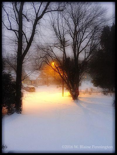 Empty street, dusk, blizzard Snowzilla Blizzard 2016 Epic Snow